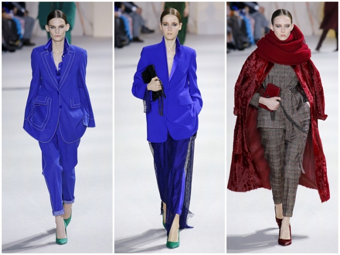 f457029f2473 Модные брючные костюмы для женщин с укороченными брюками прекрасно  сочетаются с жакетами разной длины и фасона. Женские костюмы такого типа  выглядят стильно ...