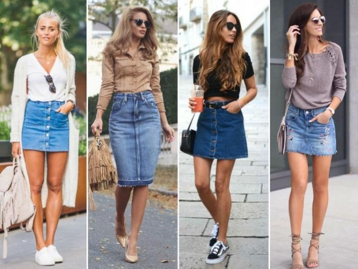 147a0be4a6a5 Модные джинсовые юбки весна-лето 2019