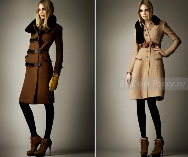 Пальто с вставками меха