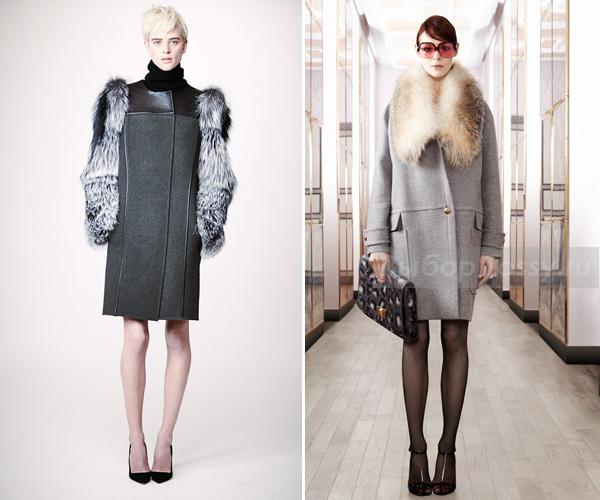 Зимние меховые пальто