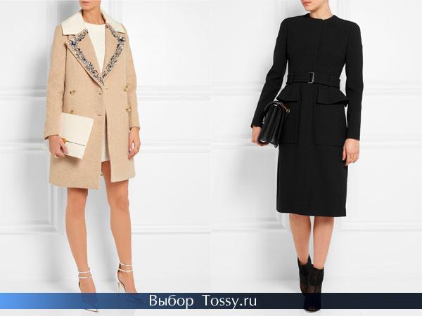 Однобортные и двубортные модели пальто