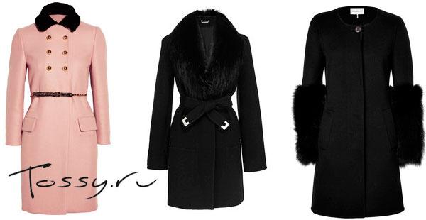 Элегантные женские пальто средней длины