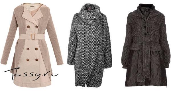 Стильные модели вязаных пальто