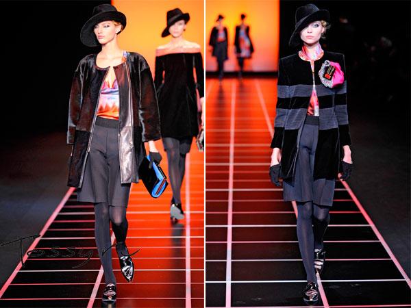 Элегантные пальто от Armani длиною до бедра