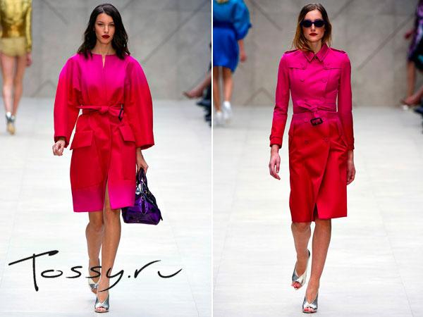 Женские пальто розового с красным цветом