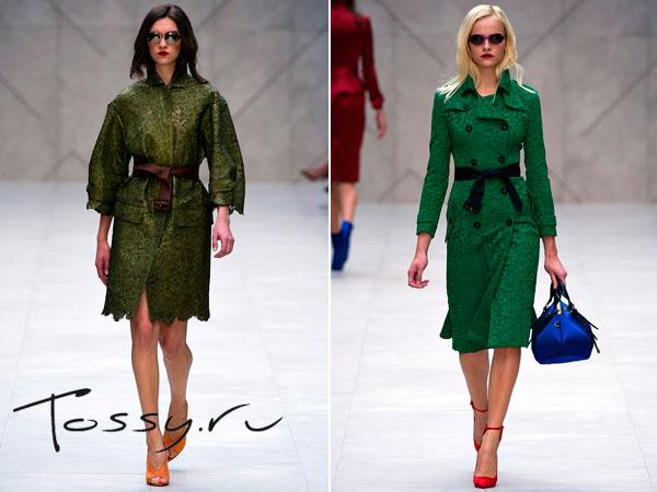 Пальто широкого покроя болотного цвета и зеленое приталенное