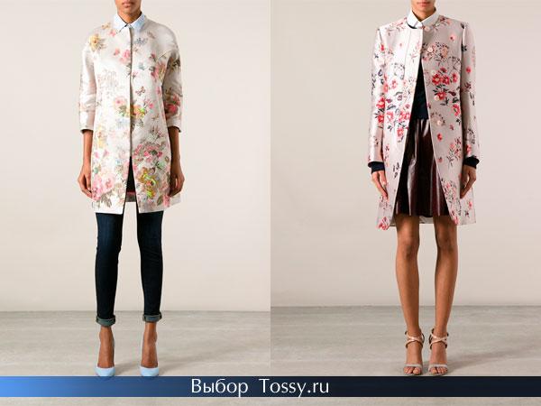 Женское пальто без воротника средней длины