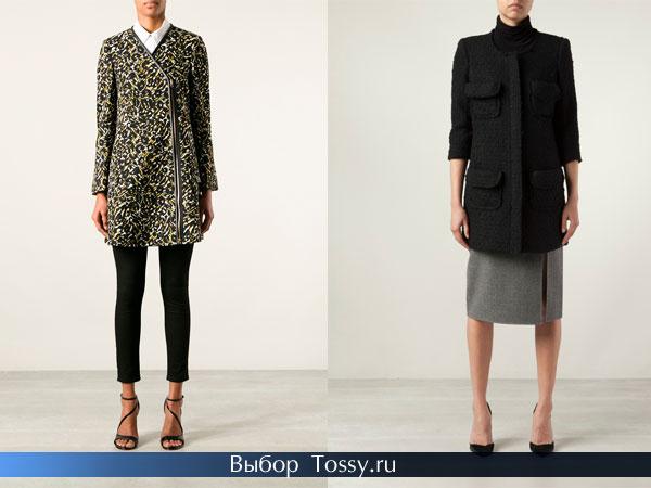 Пальто с леопардовым принтом и черное с коротким рукавом