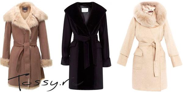 Зимние модели пальто с мехом