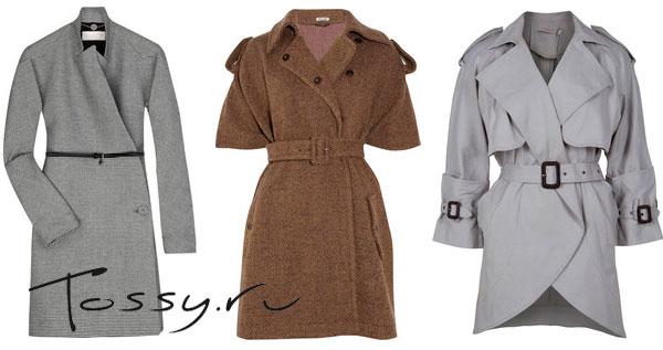 Фото женского пальто с короткими рукавами