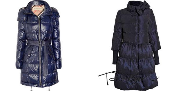 Зимнее пальто Burberry и пальто-платье с бантом