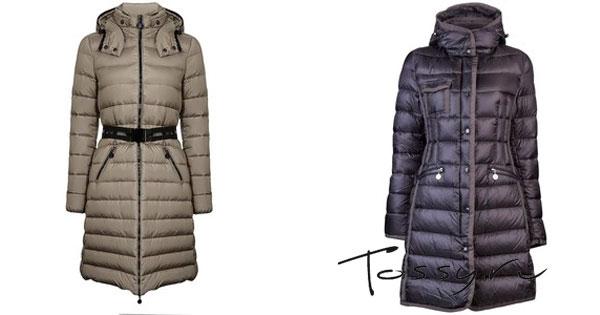 Удлиненные модели пальто с горизонтальной строчкой