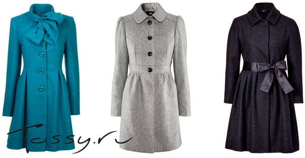 Молодежное шерстяное пальто-платье