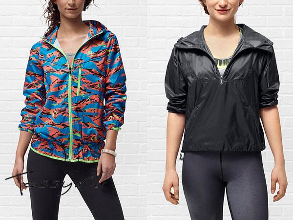 Короткие женские куртки Nike с ярким принтом