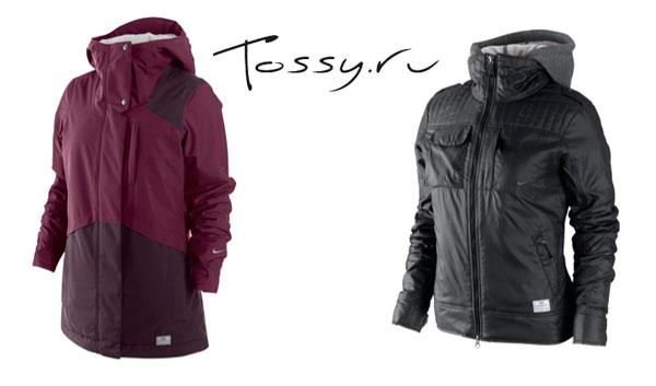 Удлиненная зимняя куртка и короткая черная с капюшоном