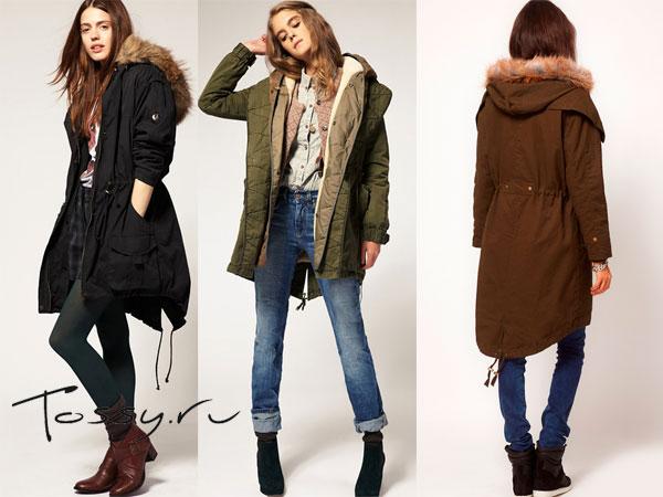 Стильные женские куртки-парки