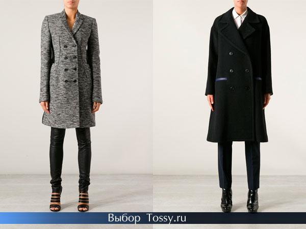 Ассеметричные пальто и модели в клетку