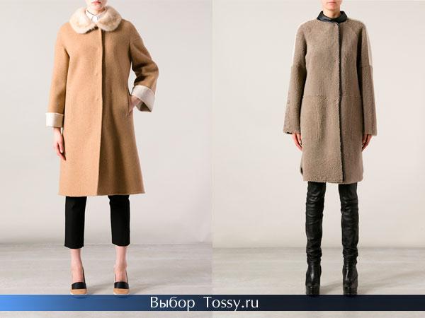 Женские зимнее пальто прямого кроя