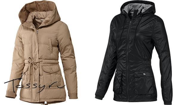 Зимние пуховые удлиненные куртки