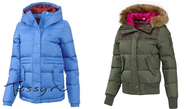 Фото голубой и зеленой куртки для зимы