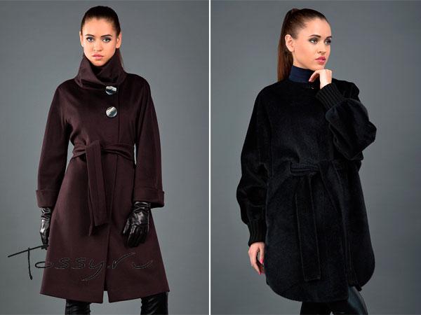 Фото укороченных моделей женских пальто