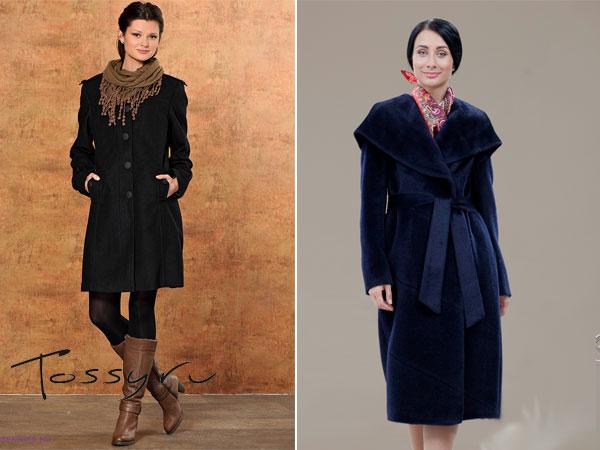 Строгие приталенные модели пальто из шерсти альпаки