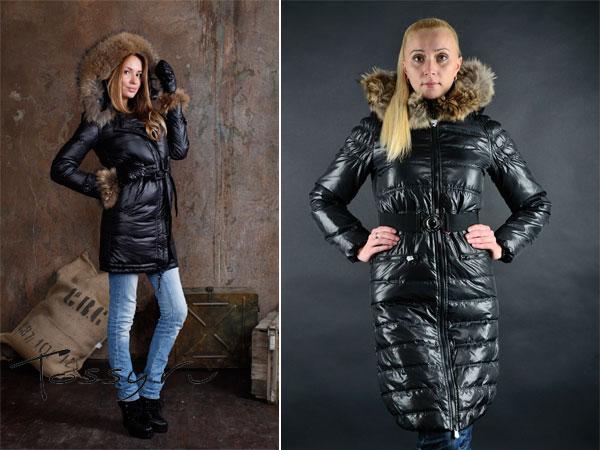 Зимние удлиненные пуховые пальто