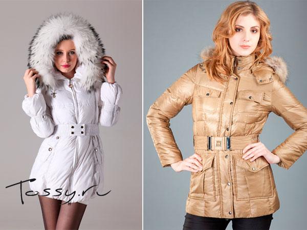 Укороченные пуховые куртки на зиму