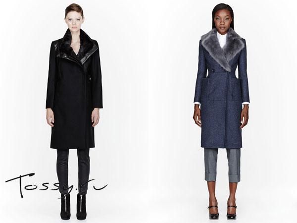 Стильные драповые пальто черного и серого цвета