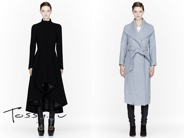 Фото удлиненных приталенных моделей пальто