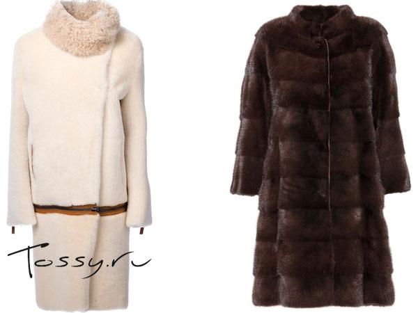 Длинные меховые пальто фото