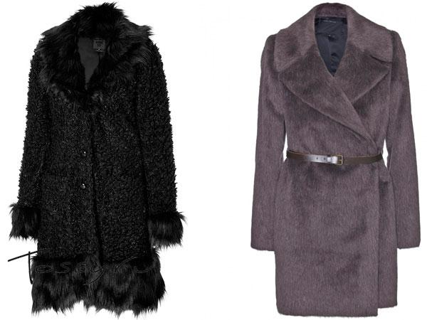 Фото черного и серого пальто