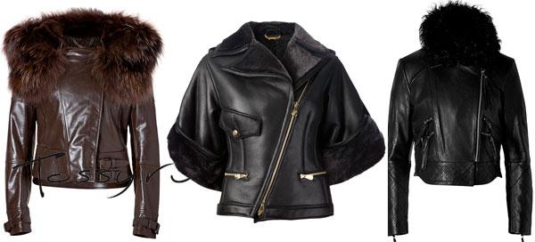 Фото кожаных курток с мехом