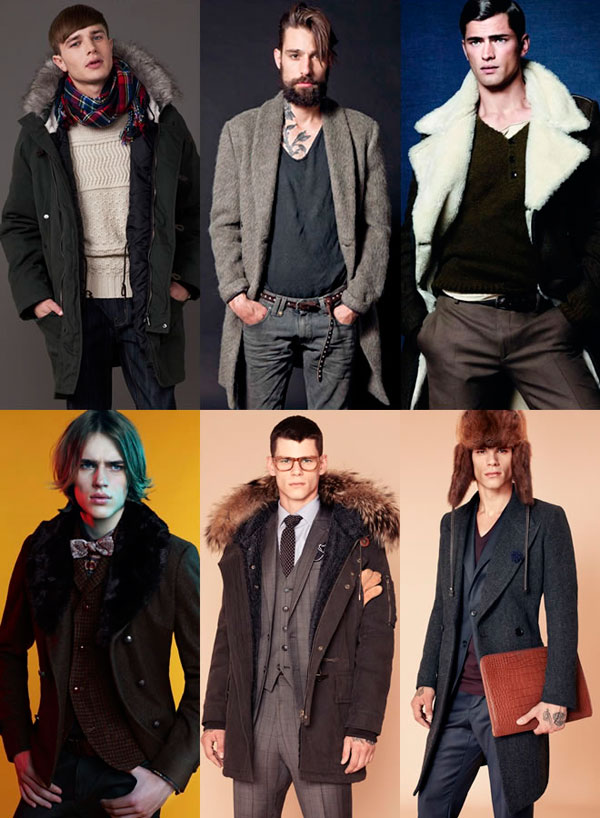 Куртки и пальто с меховым воротником и капюшоном