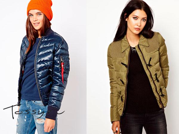 Короткие пуховые куртки для девушки