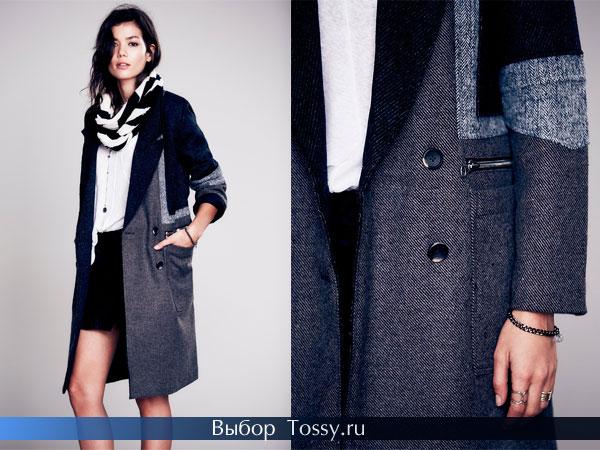 Женское пальто в стиле 80-х