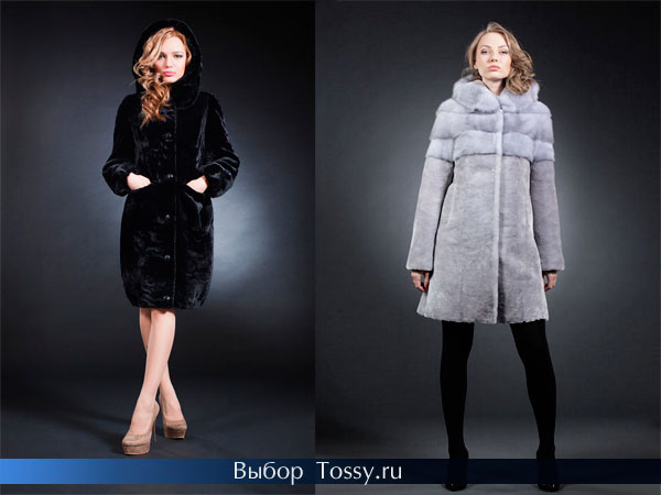 Мутоновые меховые пальто