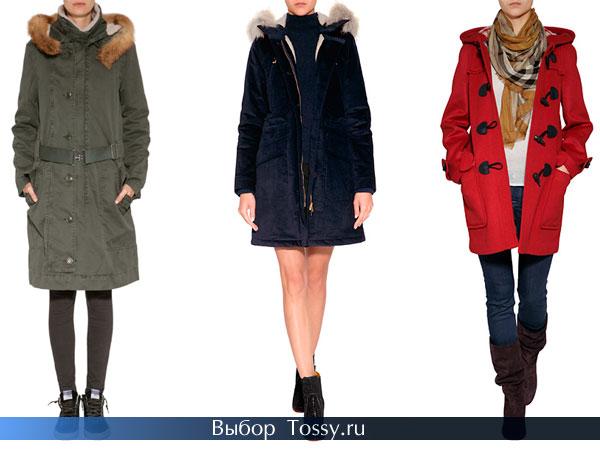 Фото женских моделей пальто с мехом