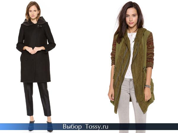 Модные пальто для молодых девушек