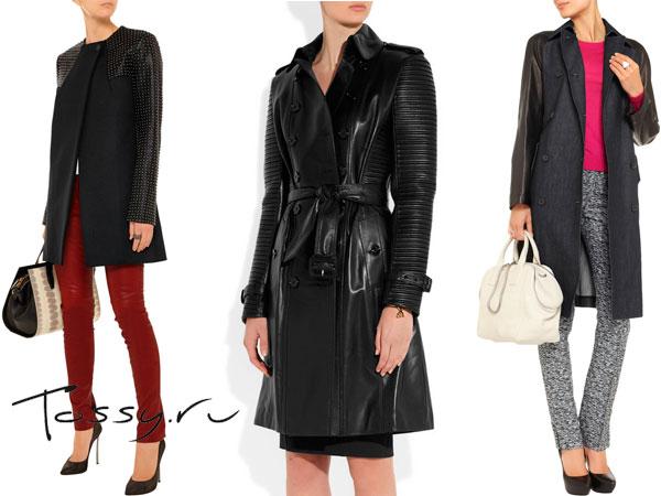 Модные пальто прямого кроя
