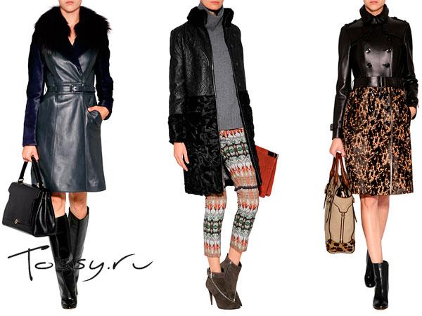Женские кожаные плащи и пальто