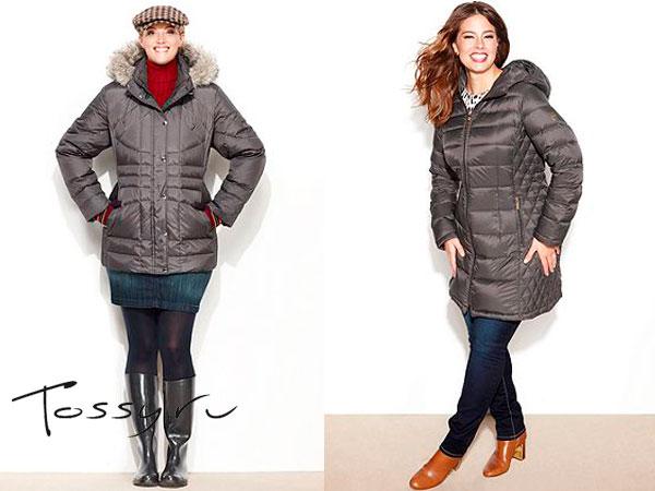 Серые женские пуховые куртки больших размеров