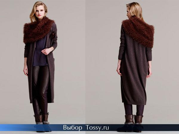 Кашемировое пальто с воротником