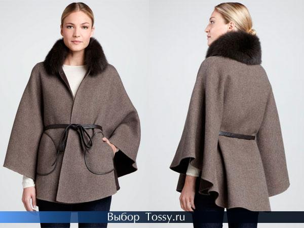 Стильное пальто-пончо La Fiorentina