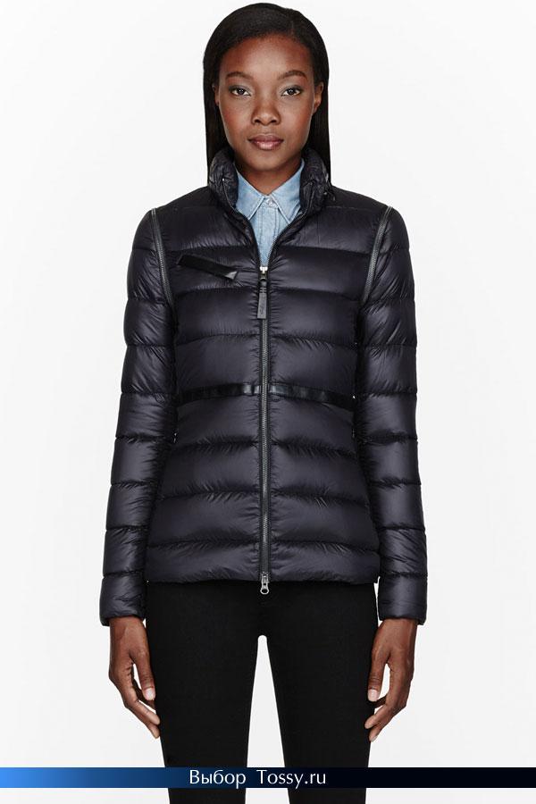 Короткая зимняя куртка с горизонтальной стежкой от MACKAGE