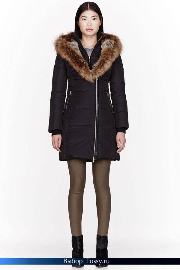 Черное пальто на молнии от MACKAGE