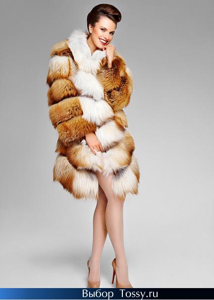 Фото модной шубы из лисы