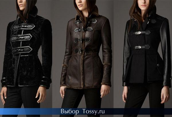 Короткие кожаные куртки дафлкот