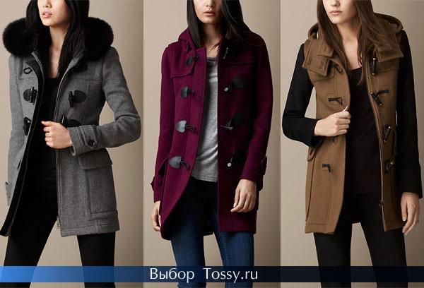 Женское шерстяное пальто средней длины