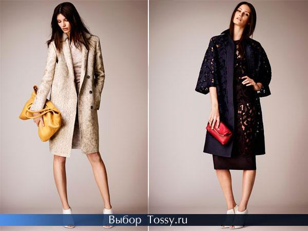Весенние модели пальто от Burberry Prorsum